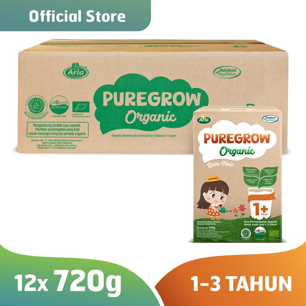 Harga-Pure grow Organic - Susu Formula Organik 1-3 Tahun 720 gr Girl