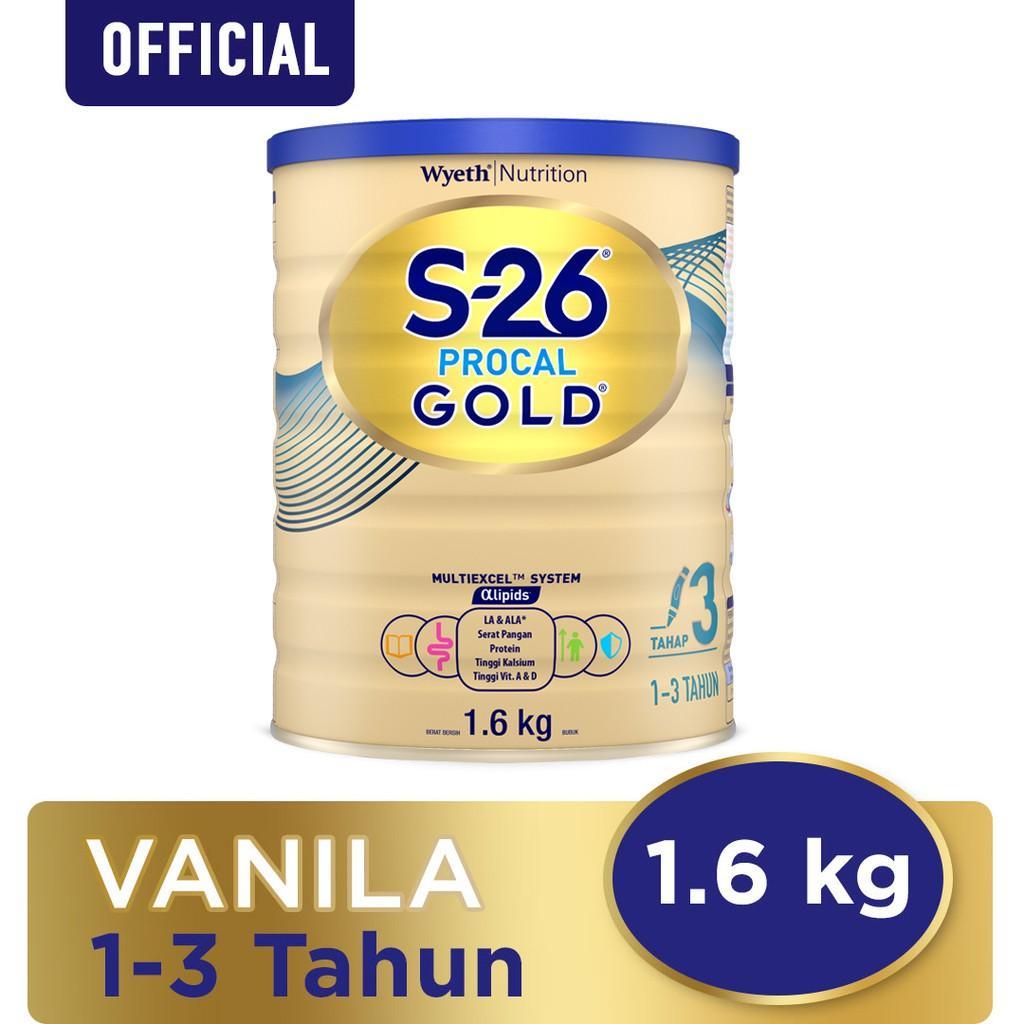 Harga-S-26 Procal Gold Tahap 3 Vanila Susu Pertumbuhan Anak Usia 1-3 Tahun Kaleng 1600 g
