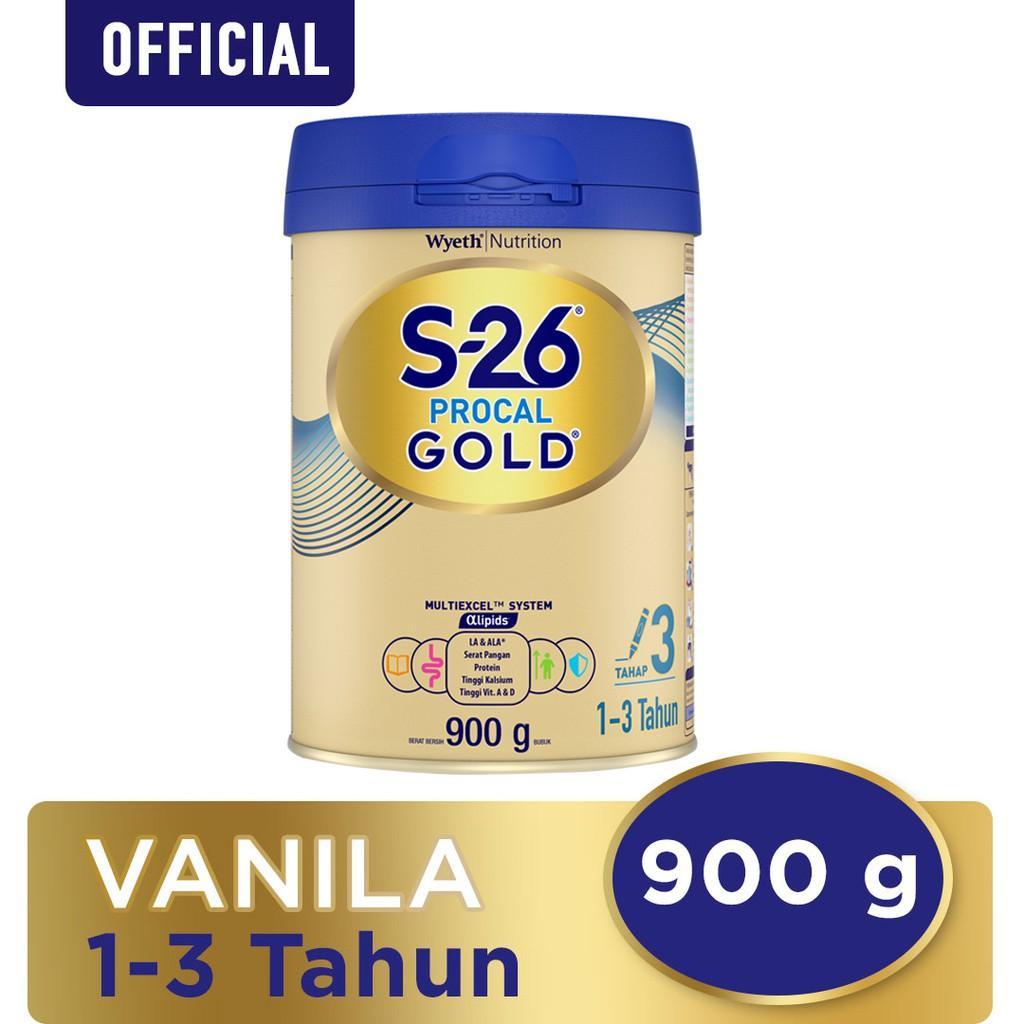 Harga-S-26 Procal Gold Tahap 3 Vanila Susu Pertumbuhan Anak Usia 1-3 Tahun Kaleng 900 g