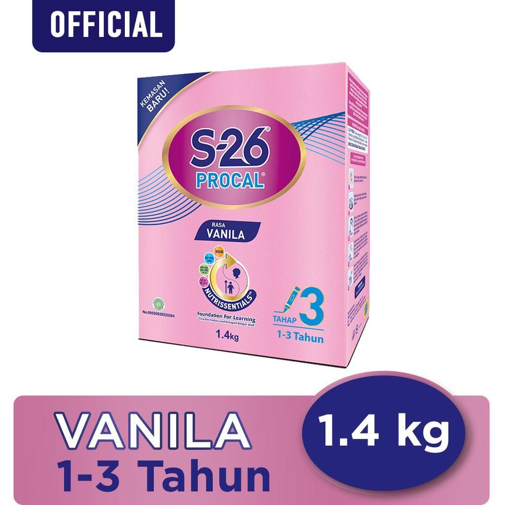 Harga-S-26 Procal Tahap 3 Vanila Susu Pertumbuhan Anak Usia 1-3 Tahun Kotak 1400 g