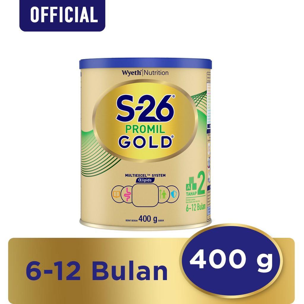 Harga-S-26 Promil GOLD Tahap 2 Vanila Susu Pertumbuhan Anak Usia 6-12 Bulan Kaleng 400 g