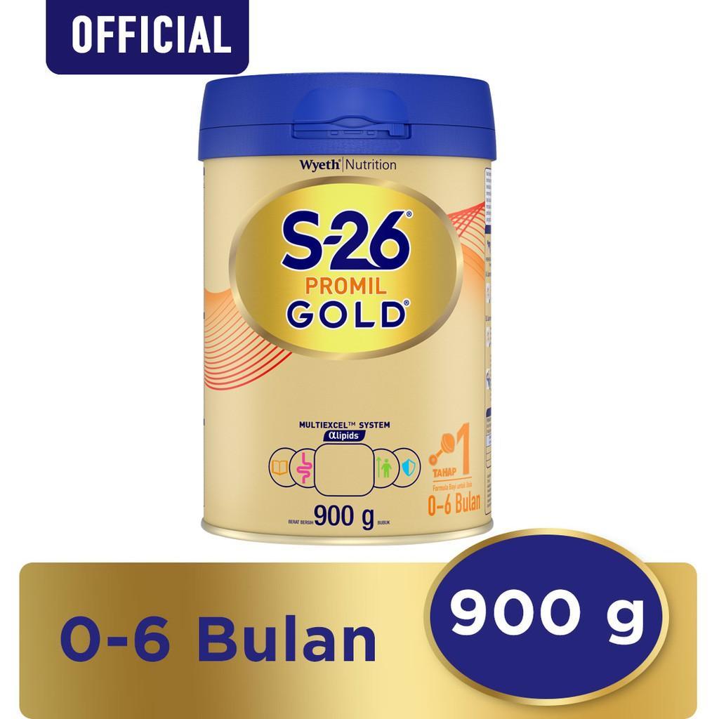 Harga-S-26 Promil Gold Tahap 1 Vanila Susu Pertumbuhan Anak Usia 0-6 Bulan Kaleng 900 g