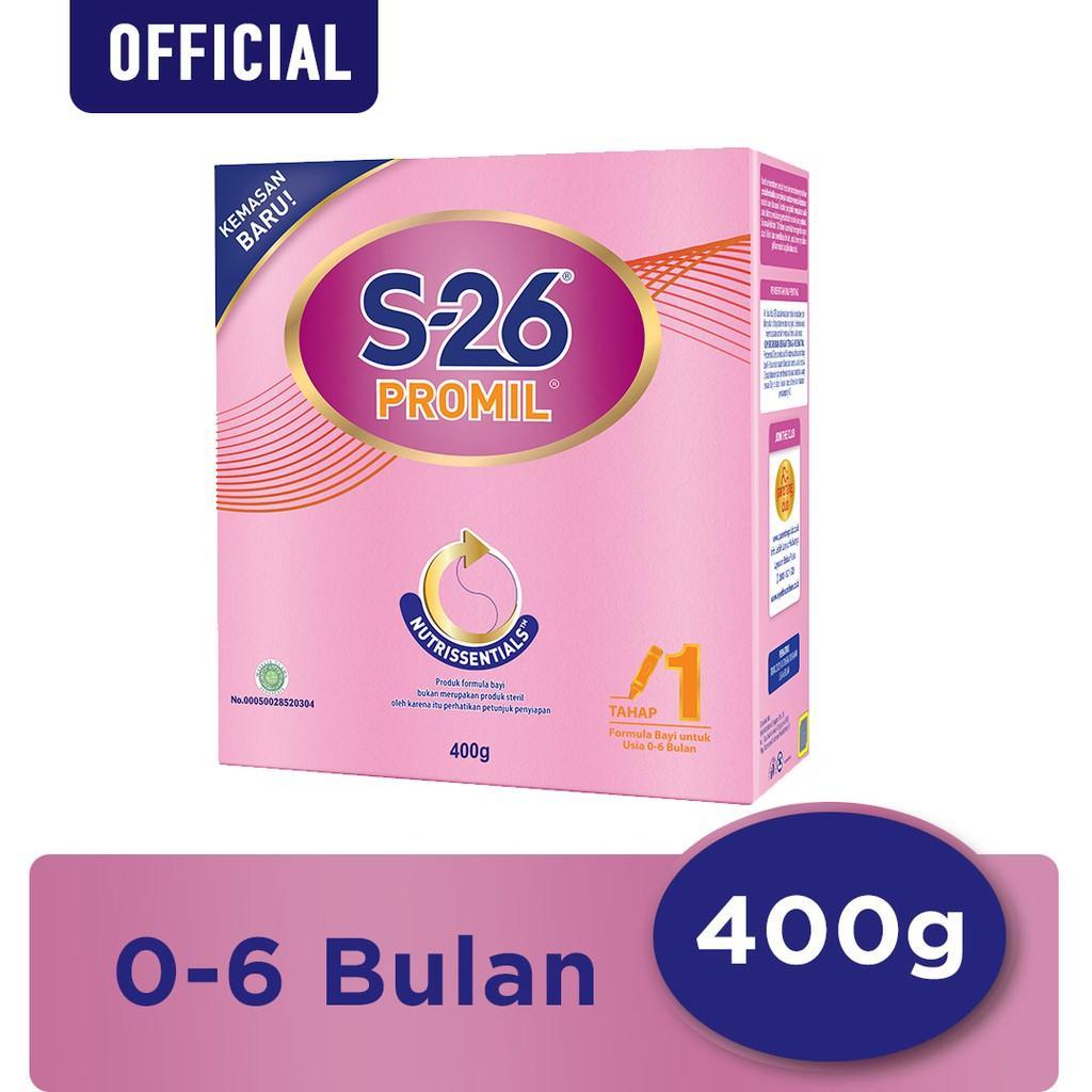 Harga-S-26 Promil Tahap 1 Susu Formula Usia 0-6 Bulan Kotak 400 g