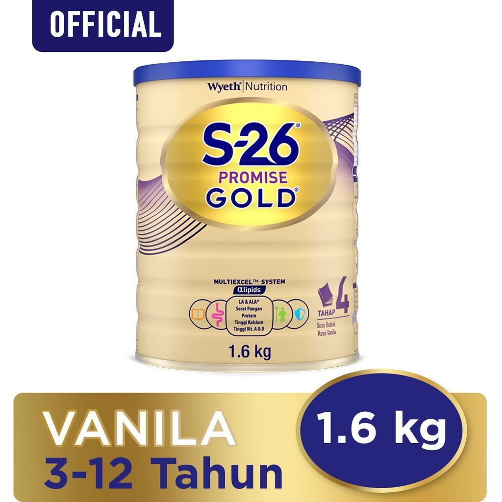 Harga-S-26 Promise Gold Tahap 4 Vanila Susu Pertumbuhan Anak Usia 3-12 Tahun Kaleng 1600 g