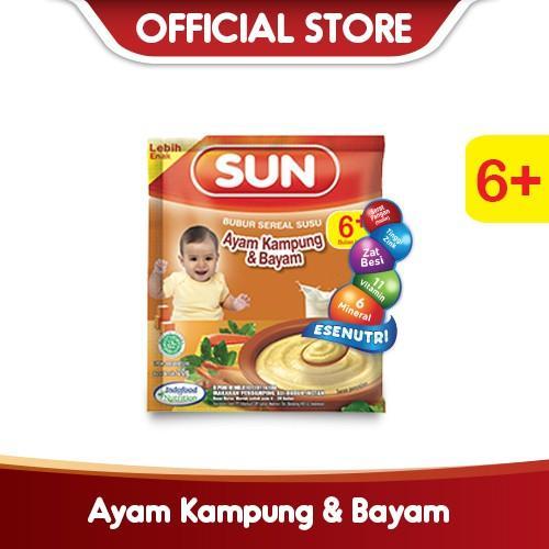 Harga-SUN Bubur Sereal Susu Ayam Kampung Bayam Sachet 20 g