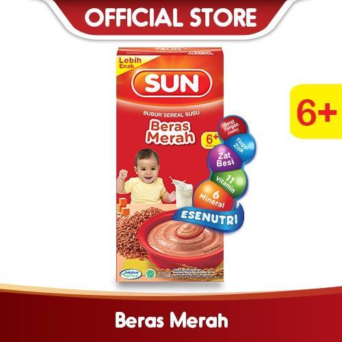 Harga-SUN Bubur Sereal Susu Beras Merah 120 g Box