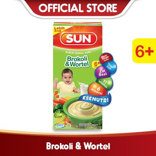 Harga-SUN Bubur Sereal Susu Brokoli Wortel 120 g Box
