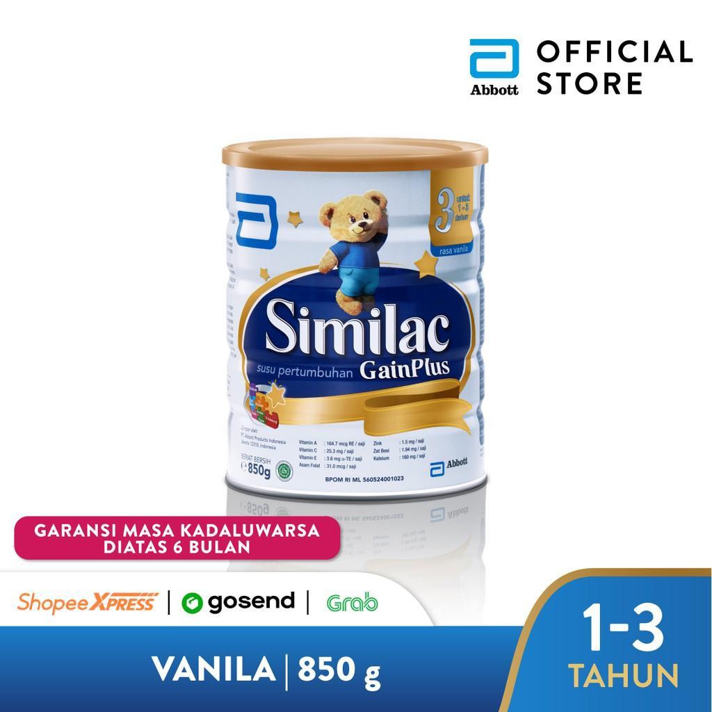 Harga-Similac GainPlus 850 g (1-3 tahun) Susu Pertumbuhan - Milk Powder