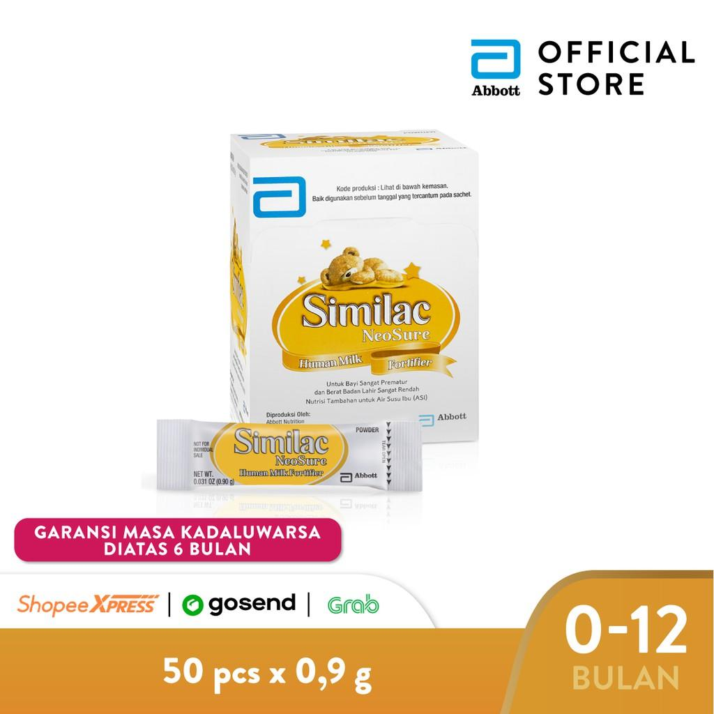 Harga-Similac Neosure HMF (Human Milk Fortifier) @ 9g - 50 pcs/box