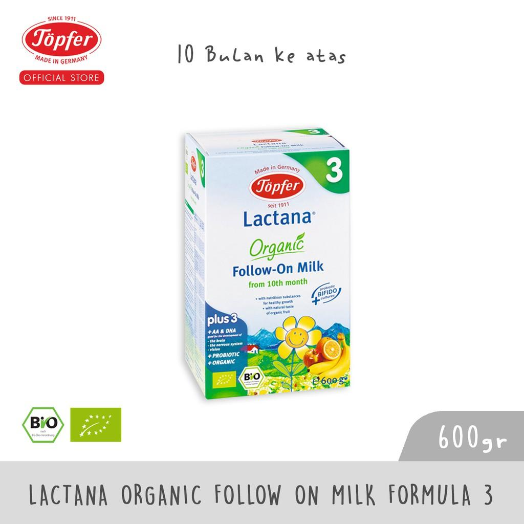 Harga-Topfer Lactana Organic Follow On Milk Formula 3