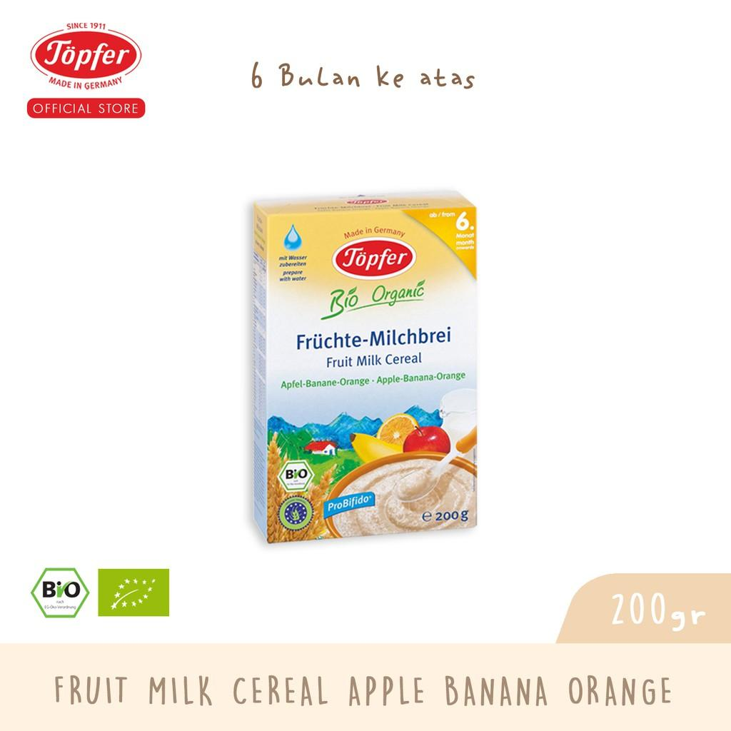 Harga-Topfer fruit milk cereal apple banana orange