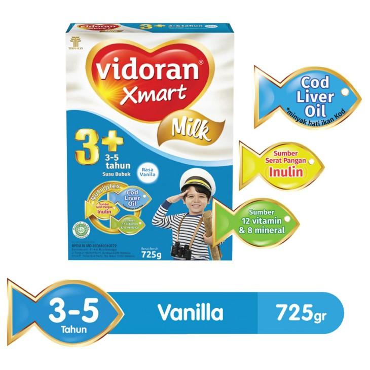 Harga-Vidoran Xmart 3+ Vanila 725 gr - Susu Pertumbuhan 3-5 Tahun