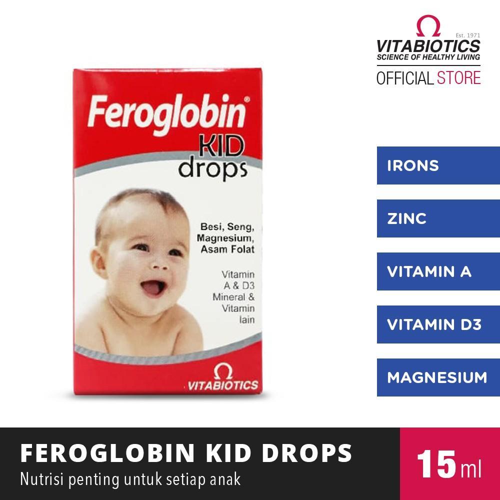 Harga-Vitabiotics Feroglobin Drops Suplemen Penambah Darah Untuk Bayi dan Balita vitamin kesehatan