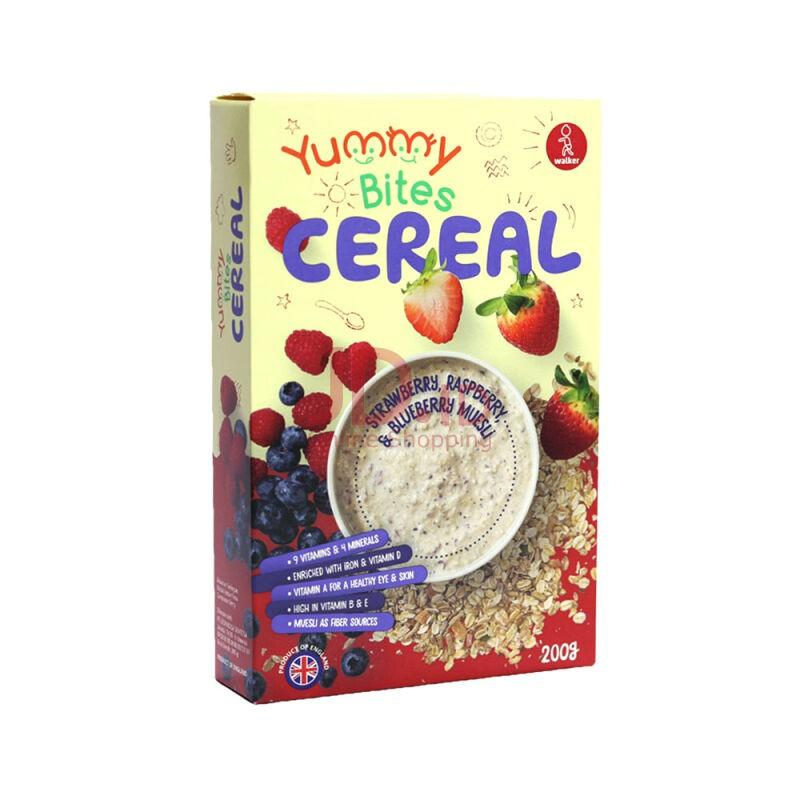 Harga-Yummy Bites Cereal Strawberry Raspberry & Blueberry Muesli