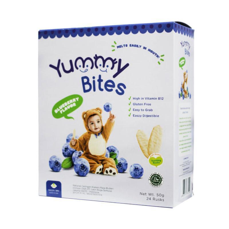 Harga-Yummy Bites Rice Crackers Blueberry
